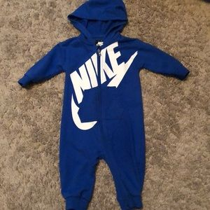 Nike hooded zip up one piece